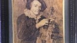 Baroque music in painting:Thys de Castella Collection: - Aert Coisijn, Portrait of a Violinist